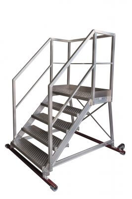 Maintenance ladders with handrails