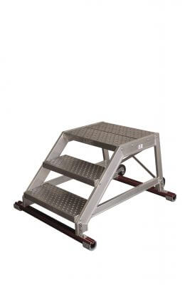 Maintenance ladders without handrails