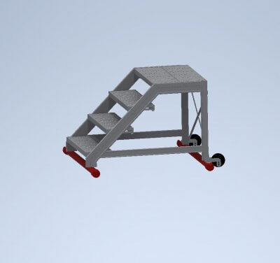 Maintenance walk-through ladders without handrails