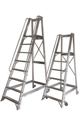 Light storage ladders