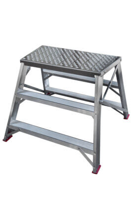 2-sided workbenches with aluminium worktop